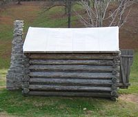 Reconstruction of a soldiers cabin at Fort Donelson
